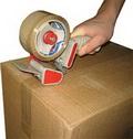 Использование скотча при перевозке грузов.